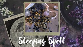 Simple Sleeping Spell  Sleep Sachet