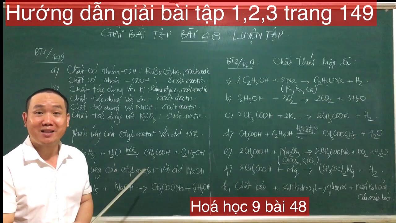 Hoá học 9/ Hướng dẫn giải bài tập 1,2,3  trang 149