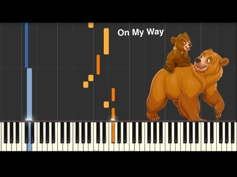 On My Way - Brother Bear - Piano Tutorial