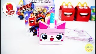 2019 McDONALD's Happy Meal Toys The Lego Movie 2 UniKitty Unbox and Review 麥當勞兒童快樂套餐樂高玩電影2 独角粉红貓 开箱