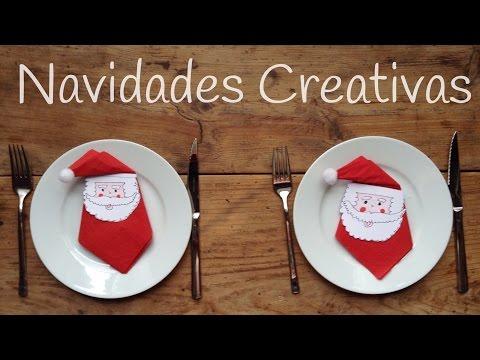 Crea tus propios servilleteros navideños de Papá Noel