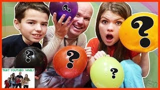 MYSTERY BALLOON SLIME IN BOX FORT / That YouTub3 Family