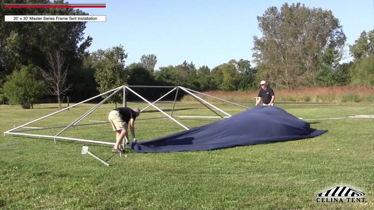 20u0027x30u0027 Master Series Frame Tent - Installation Procedure. Celina Tent & 20u0027x30u0027 Master Series Frame Tent - Installation Procedure - YouTube