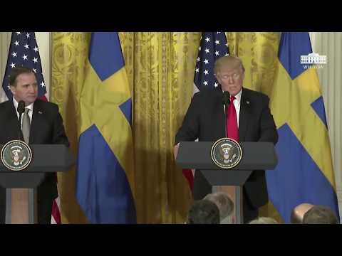 Trump Joint Press Conference with Prime Minister Löfven