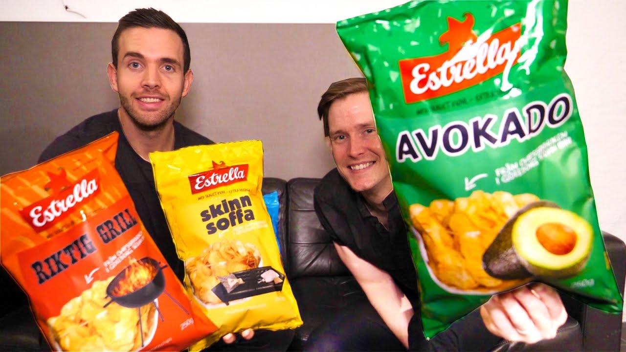 Estrellas Nyheter 2019 Testar Alla Nya Chipsen Youtube