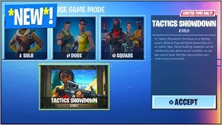 "*NEW* ""TACTICS SHOWDOWN"" LTM Coming To Fortnite Battle Royale! (*NEW* ""Tactics Showdown"" GAME MODE)"
