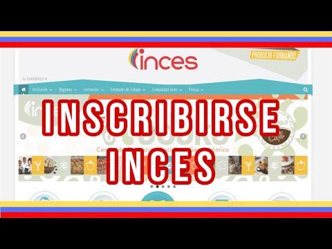Como inscribirse en el INCES Video Tutorial de como hacerlo