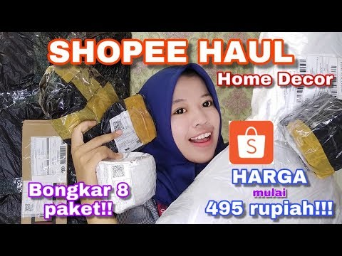 shopee haul - unboxing dekorasi kamar - youtube