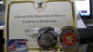My NRA Lifetime Membership-Thx to 1Godthor vid