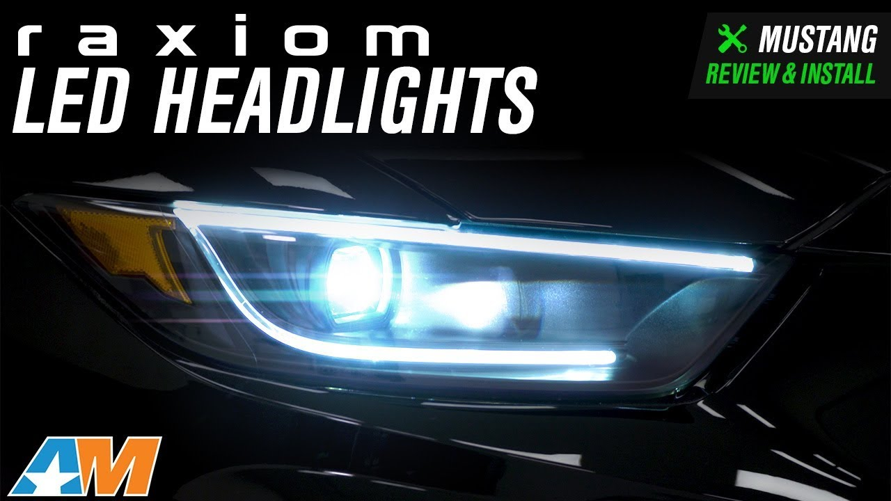 2015 2018 Mustang Gt350 Raxiom Led Headlights Review Install Youtube