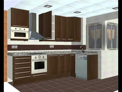 Dise o de cocinas en 3d youtube for Diseno de muebles 3d