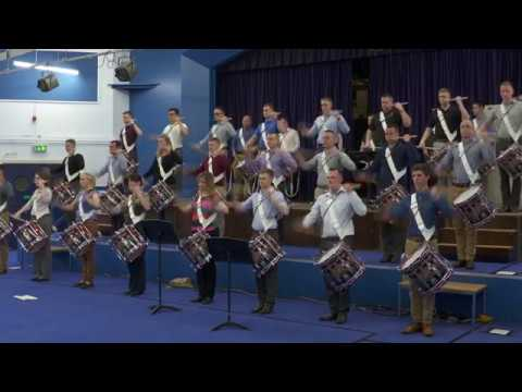 RM Corps of Drums rehearsing for the 2016 Mountbatten Festival of Music
