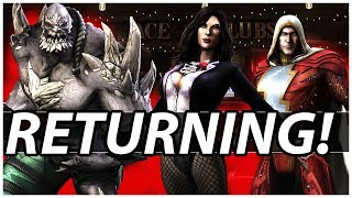 5 Possible Returning Characters as Premier Skins (Injustice 2)