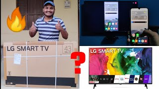 LG Smart TV Full HD 43 Inch Unboxing amp Review How To Share Mobile Screen How To Play YouTube