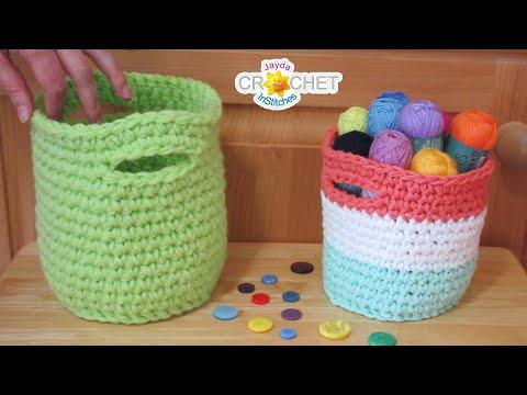 """Baby Beautiful Basket - 6.5"""" Crochet Pattern & Tutorial"""