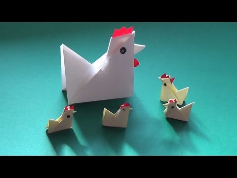 How to fold yourself a paper chicken in less than five minutes - Falte Dir Dein Papier-Huhn! from YouTube · Duration:  4 minutes 37 seconds