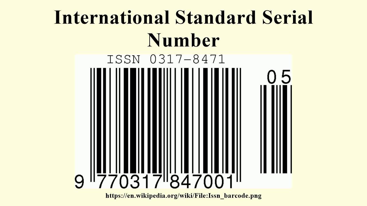International Standard Serial ...