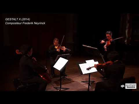 Quatuor Bozzini joue Frederik Neyrinck Gestalt X (extrait)