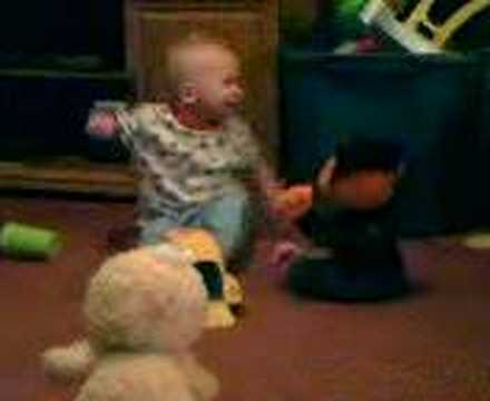 A funny dancing 9 month old