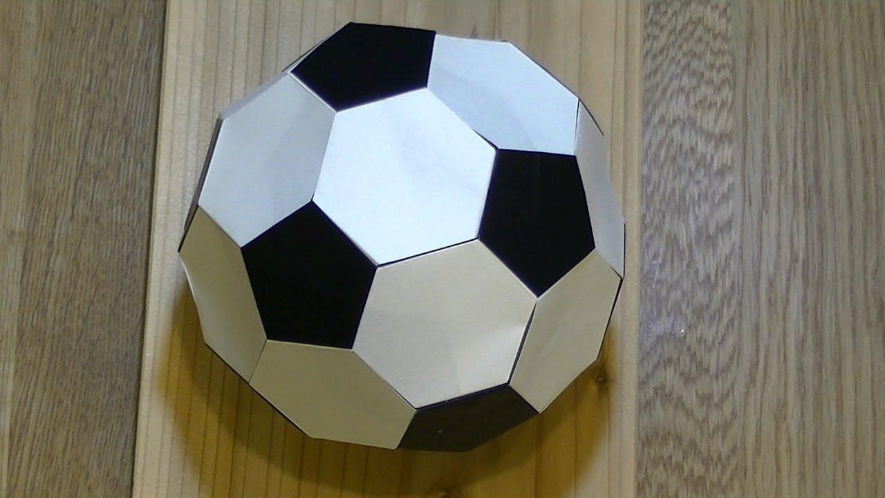 すべての折り紙 紙 折り方 : 折り紙】サッカーボールの折り ...