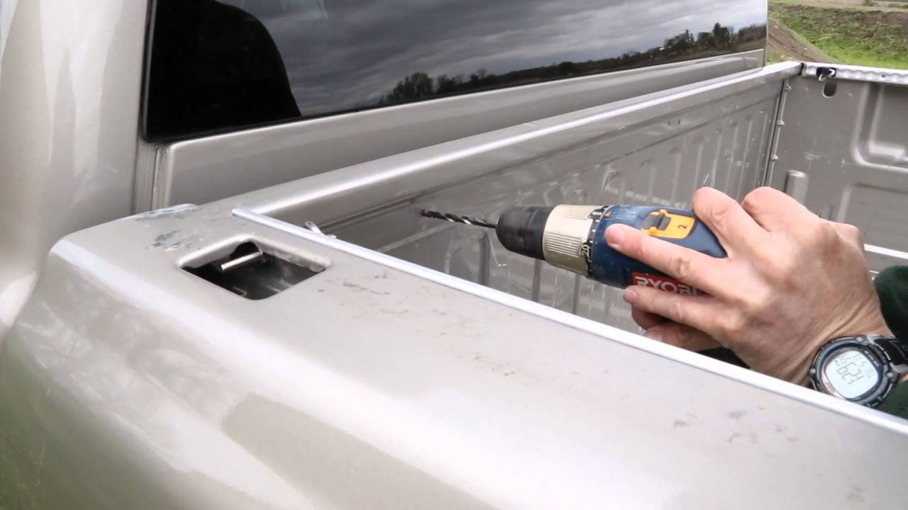 How To Install L Track In A Pickup Bed Youtube