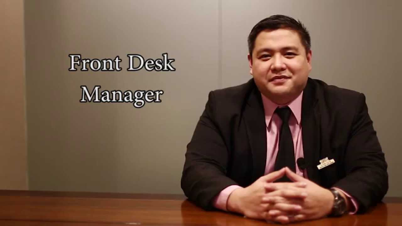 glenn dizon front desk duty manager youtube rh youtube com front desk manager jobs front desk manager salary