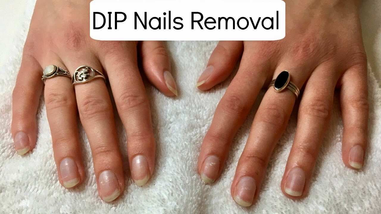 New Gelish dip nails Removal 💅🏻✨ Nail Harmony UK DIP Nails - YouTube