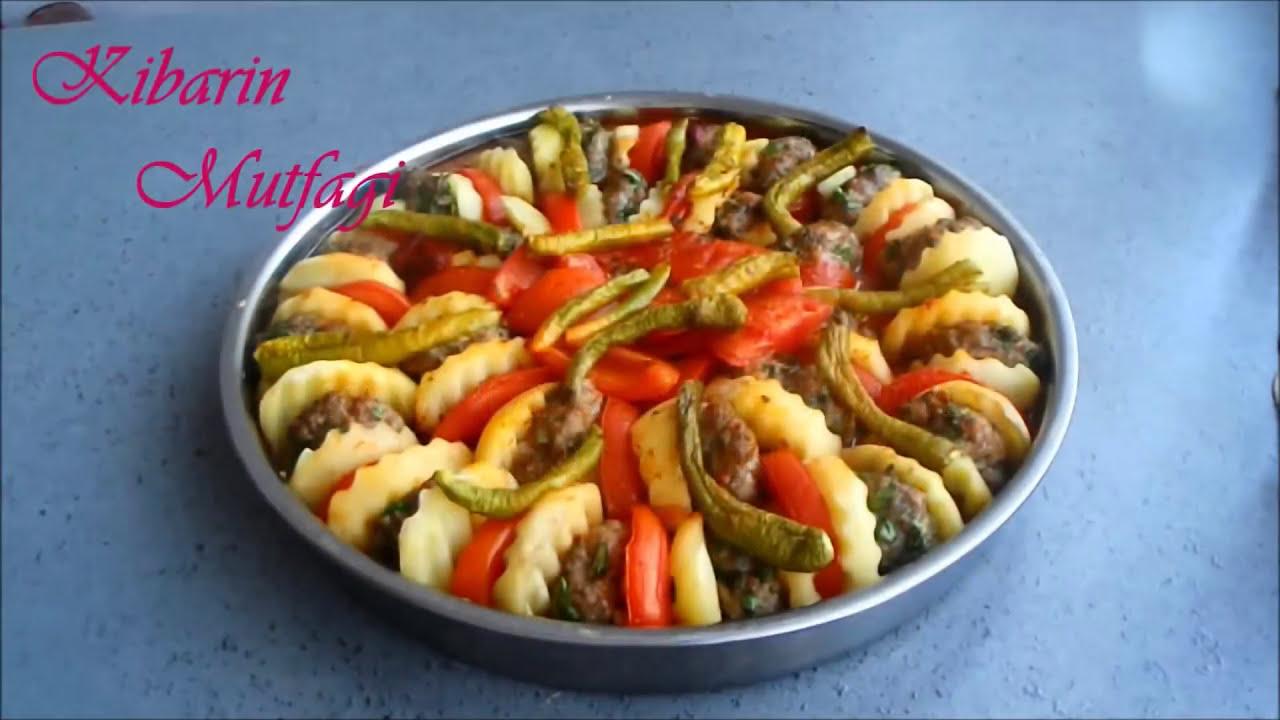 Fırında Köfteli Patlıcan Yemeği Tarifi Videosu