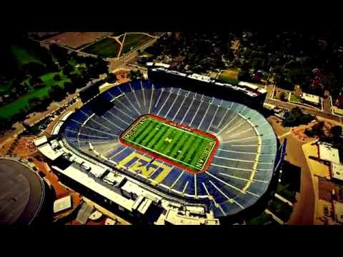 Aerial Footage of the University of Michigan Stadium (The Big House)