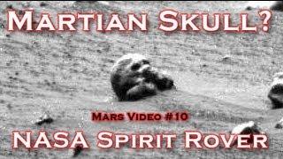 The Humanoid Skull On Mars - Spirit Rover Photo