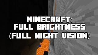 Minecraft Quick Tip: Full Brightness (full night vision) change gamma settings