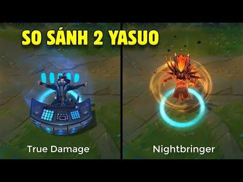 """So sánh """"True Damage YASUO"""" vs """"Nightbringer YASUO"""" - Hai trang phục tuyệt tác của LoL"""