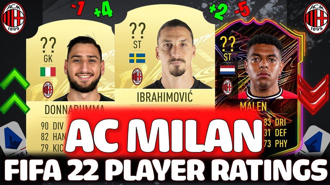 FIFA 22 | AC MILAN PLAYER RATINGS PREDICTIONS!! FT. IBRAHIMOVIC, DONNARUMMA ETC... (FIFA 22 RATINGS)