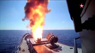 Первый пуск ракеты «Калибр» с корабля «Адмирал Григорович»