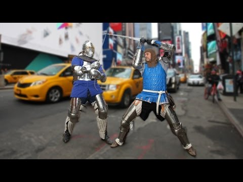 Knights Of New York: Fanatics Take Part In Medieval Fight