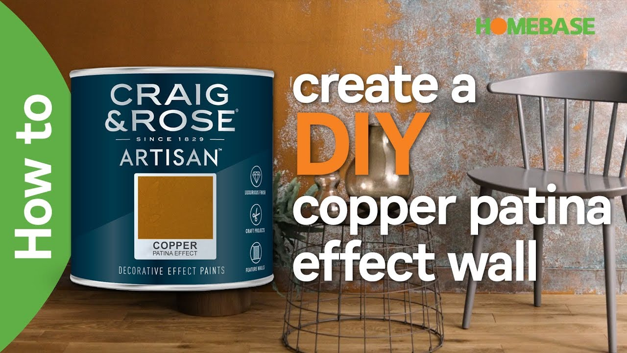 How To Create A Diy Copper Patina Effect Wall Craig Rose Paint Homebase