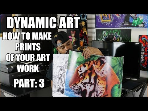 How to make prints of your art work part 3