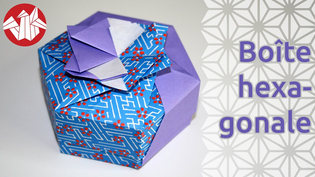 Origami bo te hexagonale de tomoko fuse hexagonal box - Comment faire un papier cadeau ...