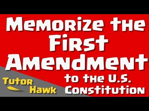 Memorize the U.S. Constitution: The First Amendment
