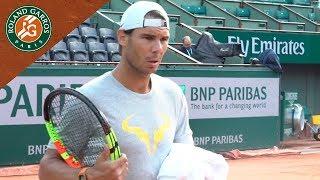 Rafael Nadal in Practice - Inside RG I Roland-Garros 2018