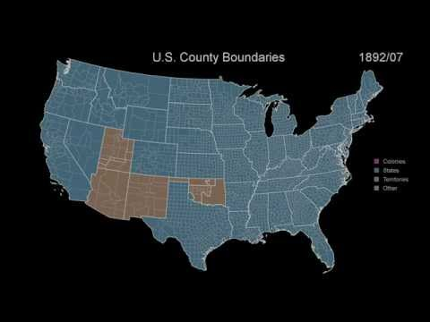 Territorial History of the USA: Every Month for 400 Years
