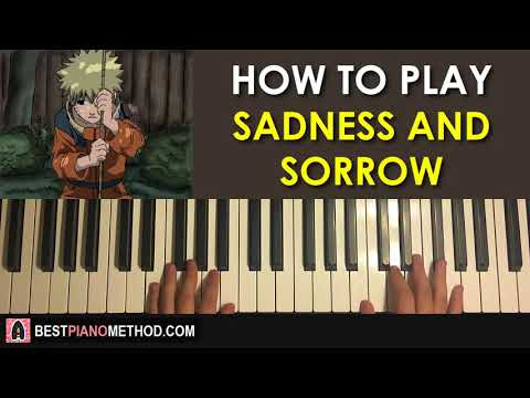 HOW TO PLAY - Naruto - Sadness and Sorrow (Piano Tutorial Lesson)