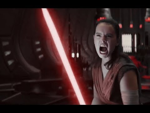Red Lightsaber Rey and Kylo Ren vs Guards