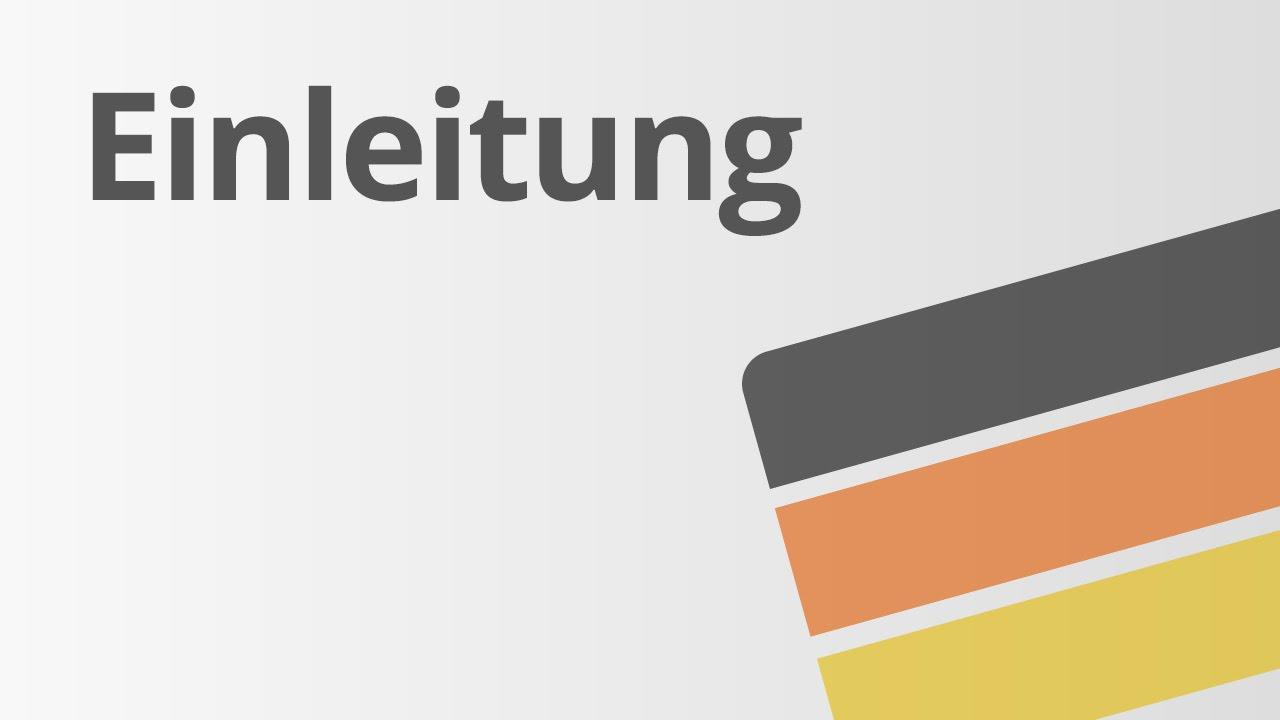 Einleitung Deutsch Texte Schreiben Youtube
