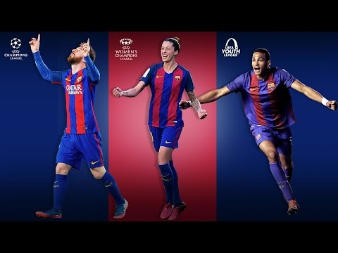 FC Barcelona, the only club still alive in three Champions League competitions