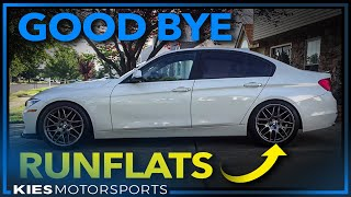 Good Bye Runflats (I accidentally bought standard go flat tires...why I won't go back to runflats!)