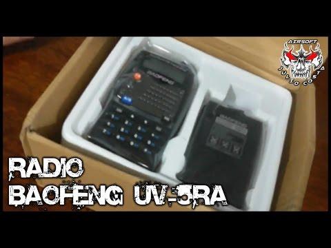 Unboxing e Review Radio Comunicador Baofeng UV-5RA - Aliexpress