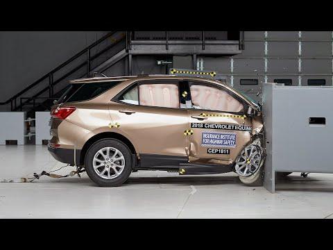 2018 Chevrolet Equinox Passenger-side Small Overlap IIHS Crash Test