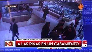 Un casamiento terminó a las trompadas en el centro de Córdoba