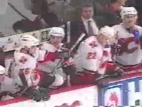 NHL Brawl Flames VS Ducks.